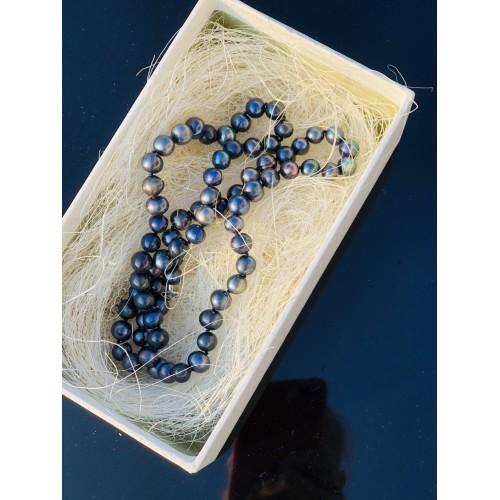 Жемчуг натуральный египетский морской темно-синий