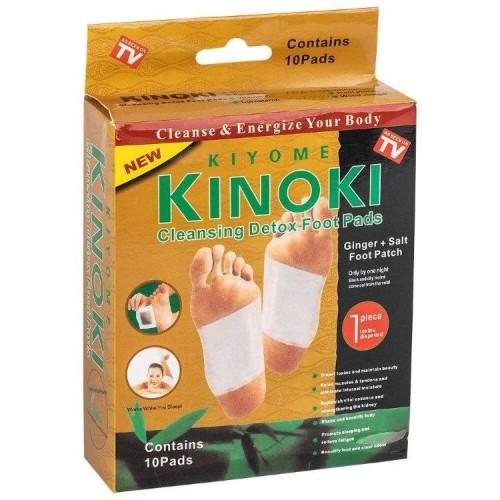 Пластырь на стопы для чистки лимфы выведения токсинов KINOKI 5 пар