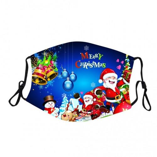 Защитная турмалиновая маска с рисунком Merry Christmas