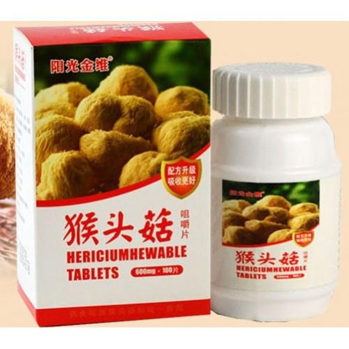 Натуральный гриб Hericium Гериций в таблетках 100 штук
