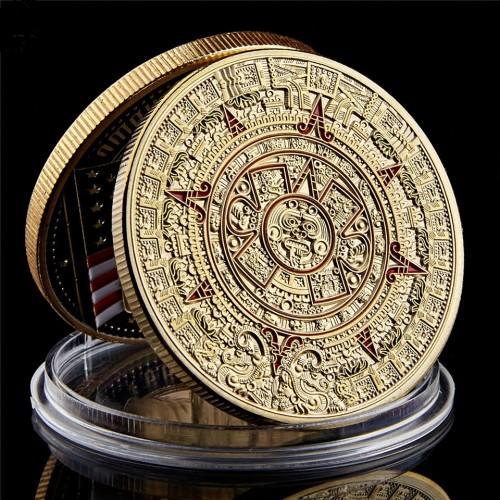 Сувенирная монетаКалендарь ацтеков Камень солнца