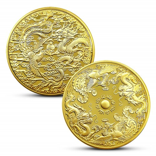 Успешная монета Дракон и феникс Успех