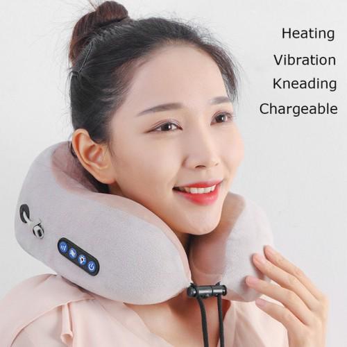 Электрический турмалиновый массажер подушка для шеи u-образная подушка