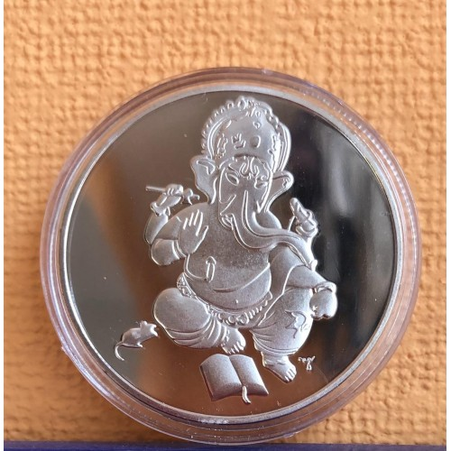 Монета Ганеша серебряная