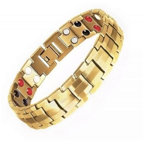 Браслет магнитно-турмалиновый с германием золото3в1 21см