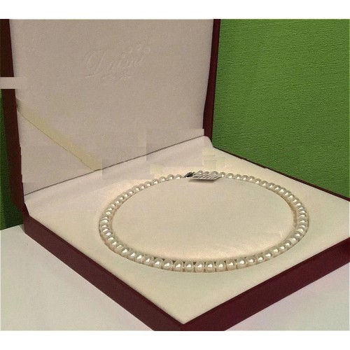 Ожерелье из морского белого жемчуга Akoya Класс AAА