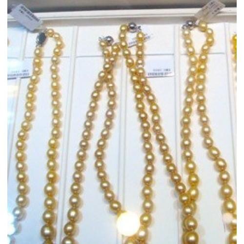 Жемчужное ожерелье классическое ожерелье из персиковых жемчужин