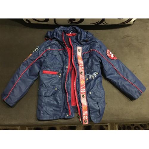 Детская курточка ветровка с подкладкой Libellule 2в1 бу